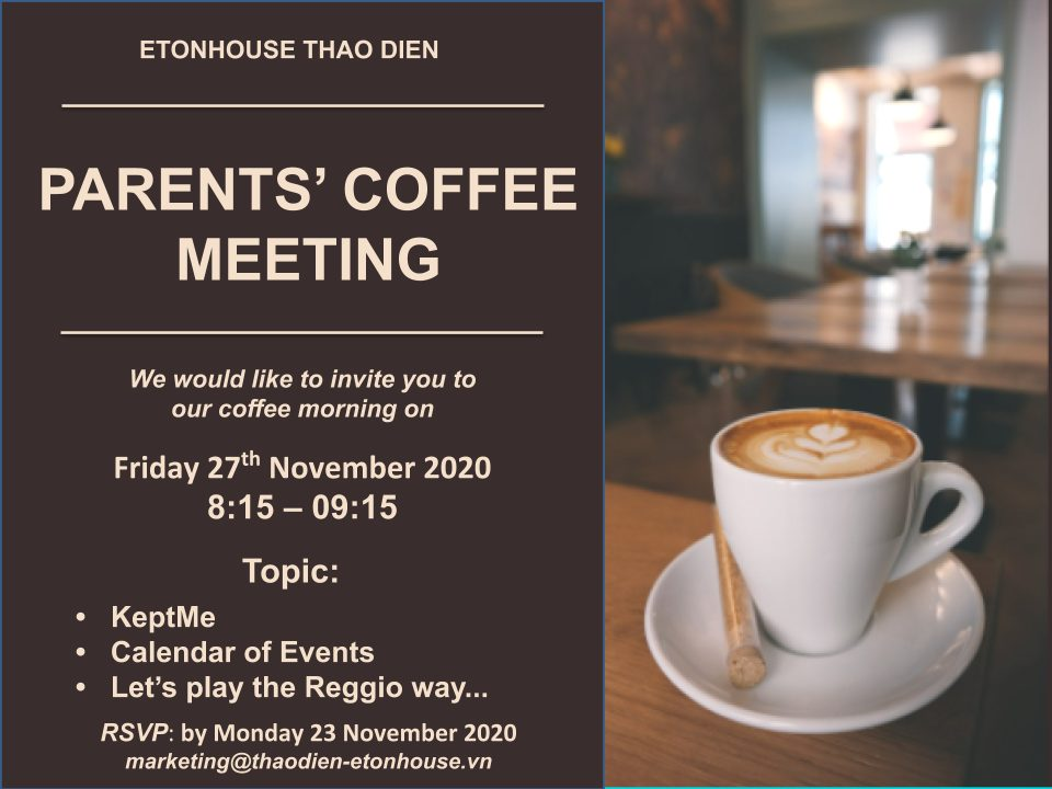 Parents' Coffee Morning, November 2020